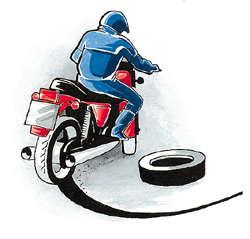 Вождение мотоцикла в городе